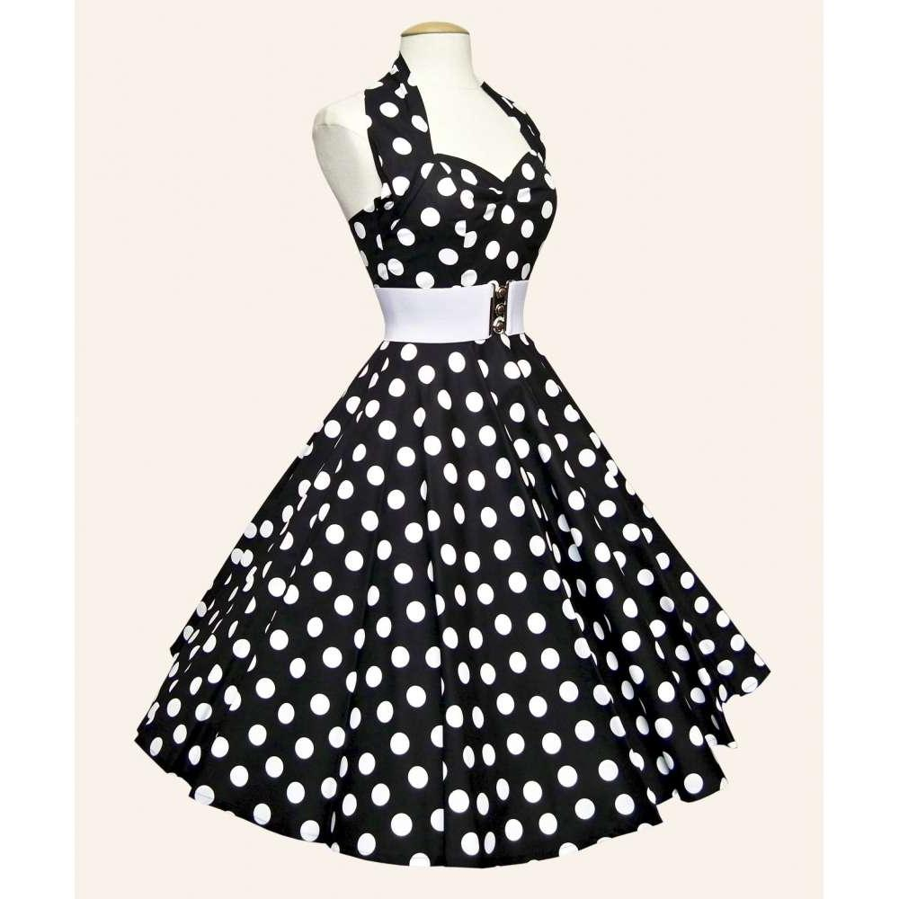 50s Halterneck Polka dot Dress