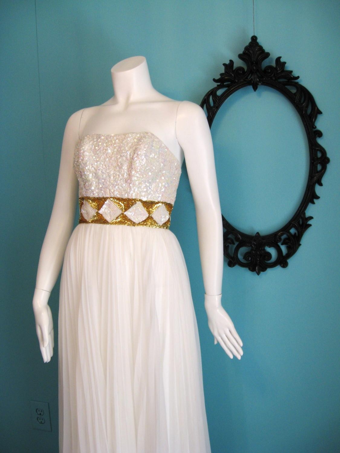 Grecian Chiffon Wedding Dress