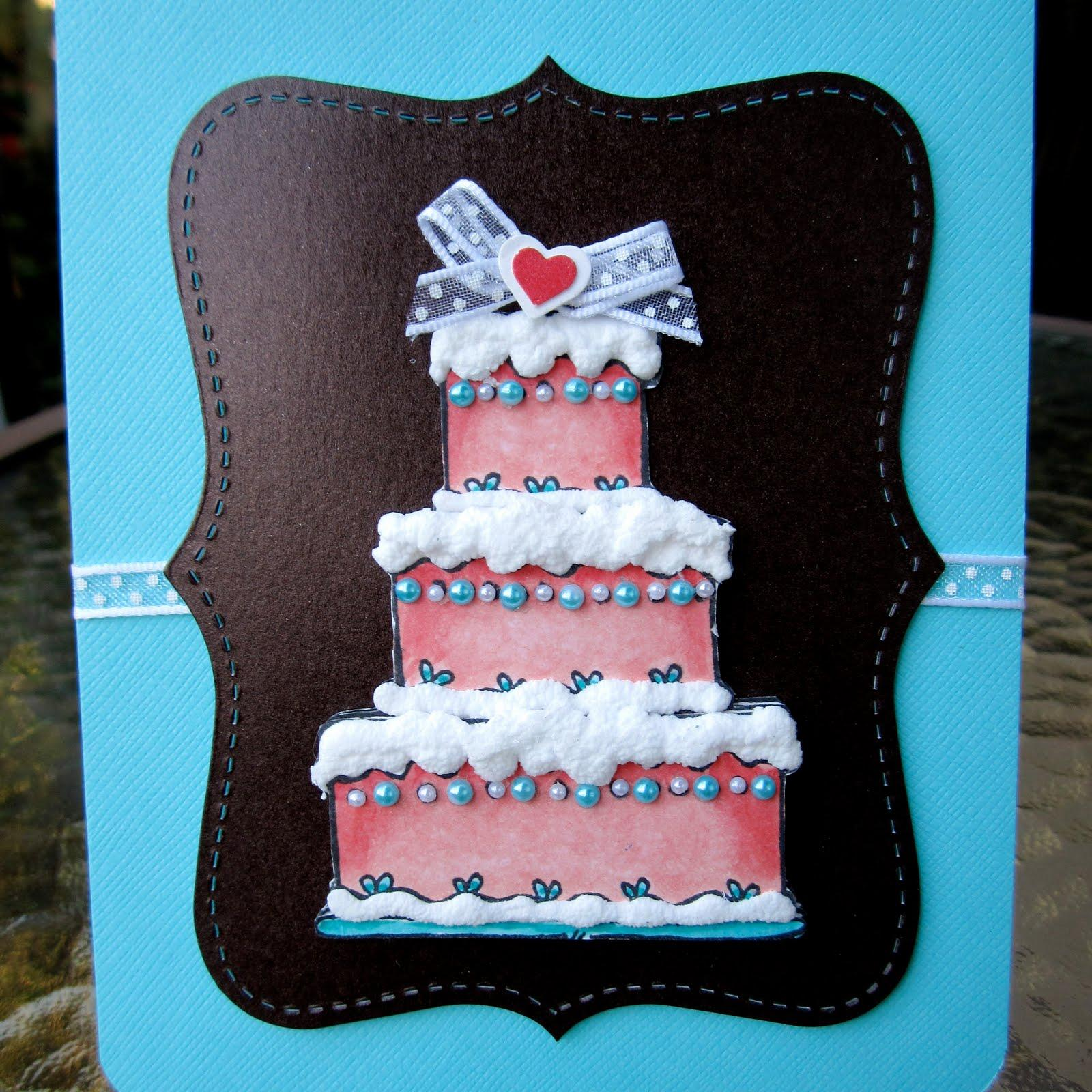 Fancy Wedding Cake Card
