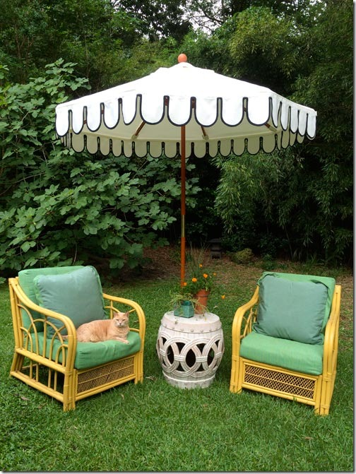 Scalloped Umbrella by Boutique Tents | Commissioned for Lewis Miller Designs