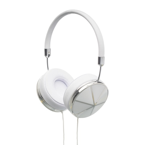 Frends Taylor May Kwok White & Silver Headphones, WeAreFrends.com