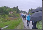 My view at mile 5...after the rain dies down