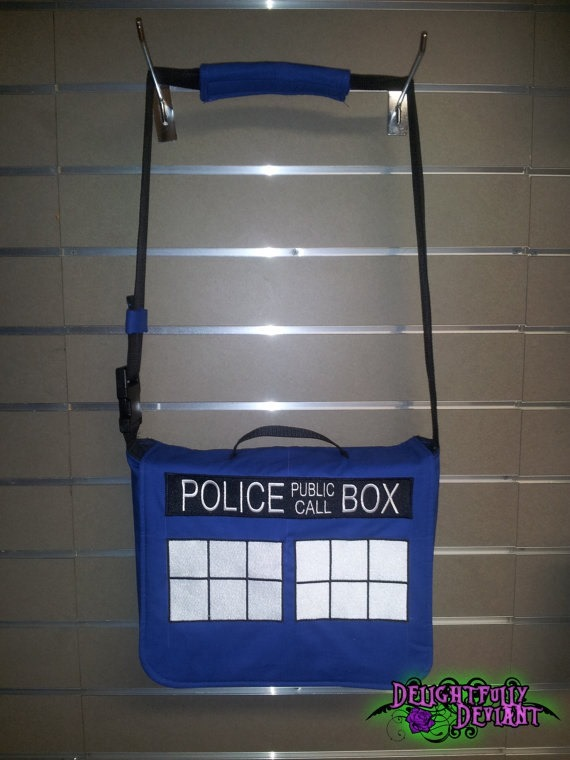 Police Box Messenger Bag from Pandoras Productions