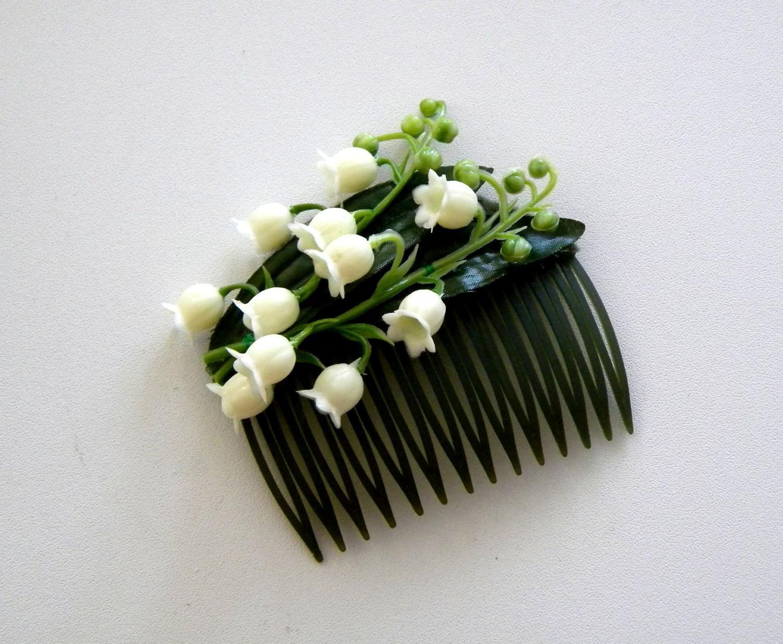 lily hair clip wedding