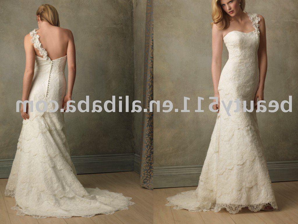 lace beaded wedding dress