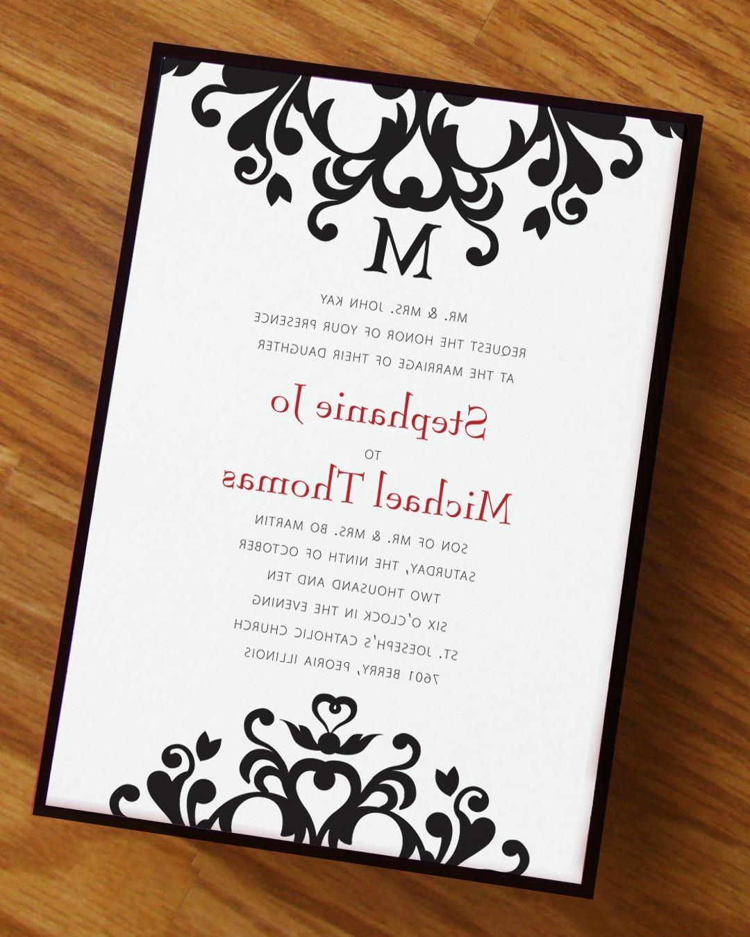Flourishing Hearts Wedding Invitation. From Annamalie