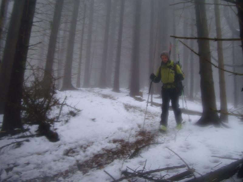 Uzi si plouati, la 1500 de metri in mijlocul lui ianuarie.