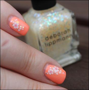 Soft Summer Blütensticker Deborah Lippmann Glitzer Stairway to Heaven 04