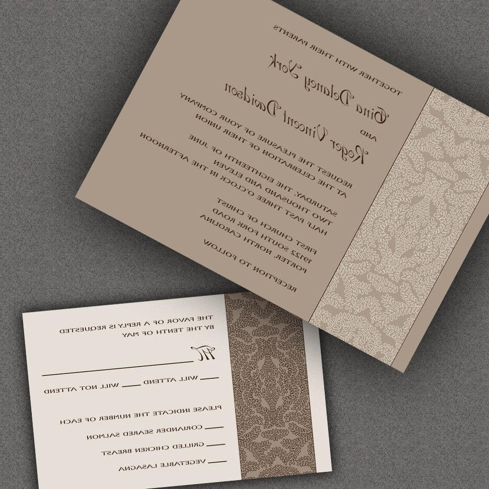 Formal Wedding Invitations-