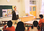 Teaching English at Takahama Elementary School.