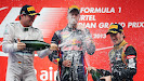 Podium ceremony 2013 Indian F1 GP