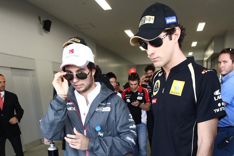 Серхио Перес и Бруно Сенна в черных очках на Гран-при Кореи 2011