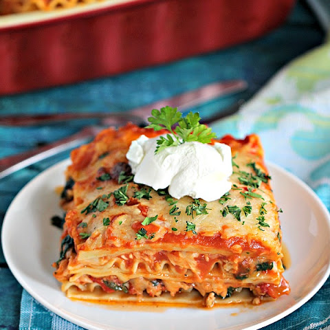 Best Chicken Spinach Lasagna