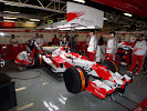 Kamui Kobayashi (JPN) has his first test for Toyota TF107