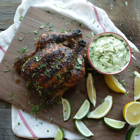 Whole Grilled Chicken with Citrus Butter