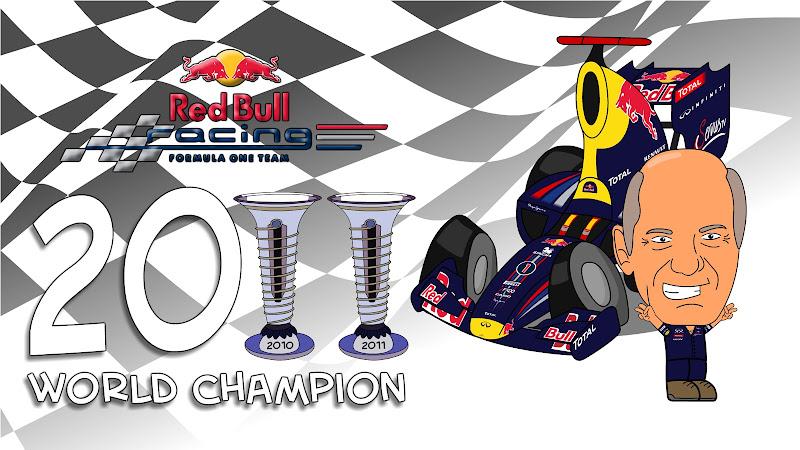 Red Bull и Эдриан Ньюи чемпионы в кубке конструкторов после Гран-при Кореи 2011 Los MiniDrivers