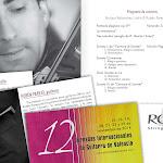 Concierto de Enrique Palomares, violín, (España) y Rubén Parejo, guitarra, (España). En la Sala de la Muralla del Colegio Mayor Rector Peset de Valencia.