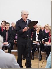 Boudewijn laat zingen: Boudewijn Knevels, 50 jaar dichter en schrijver. Roland Ramaekers zingt twee liederen. Piano: Willy Appermont.