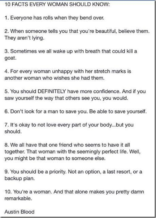 10 facts every woman should know 2
