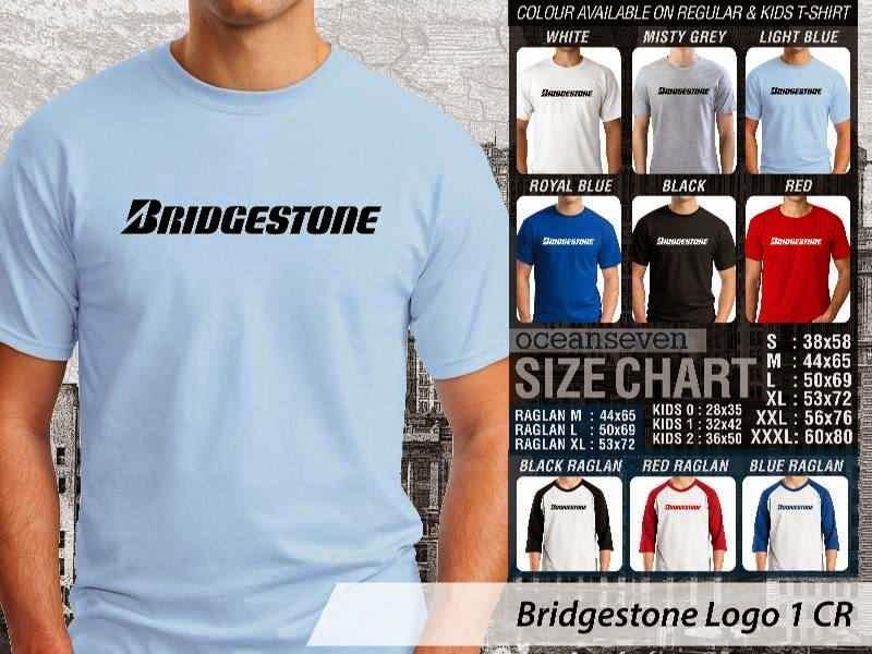KAOS Bridgestone Logo Otomotif distro ocean seven