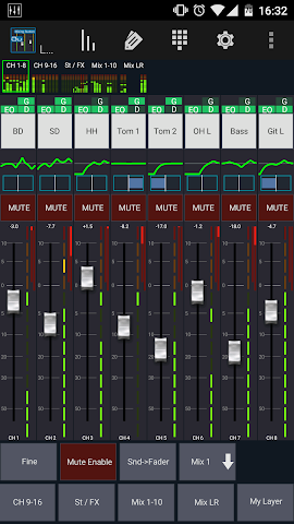 android Mixing Station Qu Pro Screenshot 0