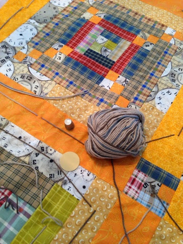 tie a quilt with yarn