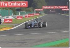 Nico Rosberg nelle prove libere del gran premio del Belgio 2015