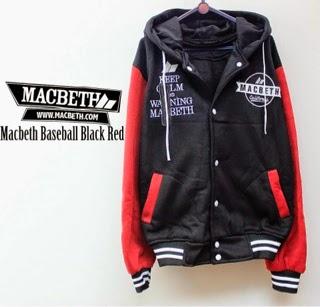 Jaket Macbeth 05 Bassball Hitam Merah