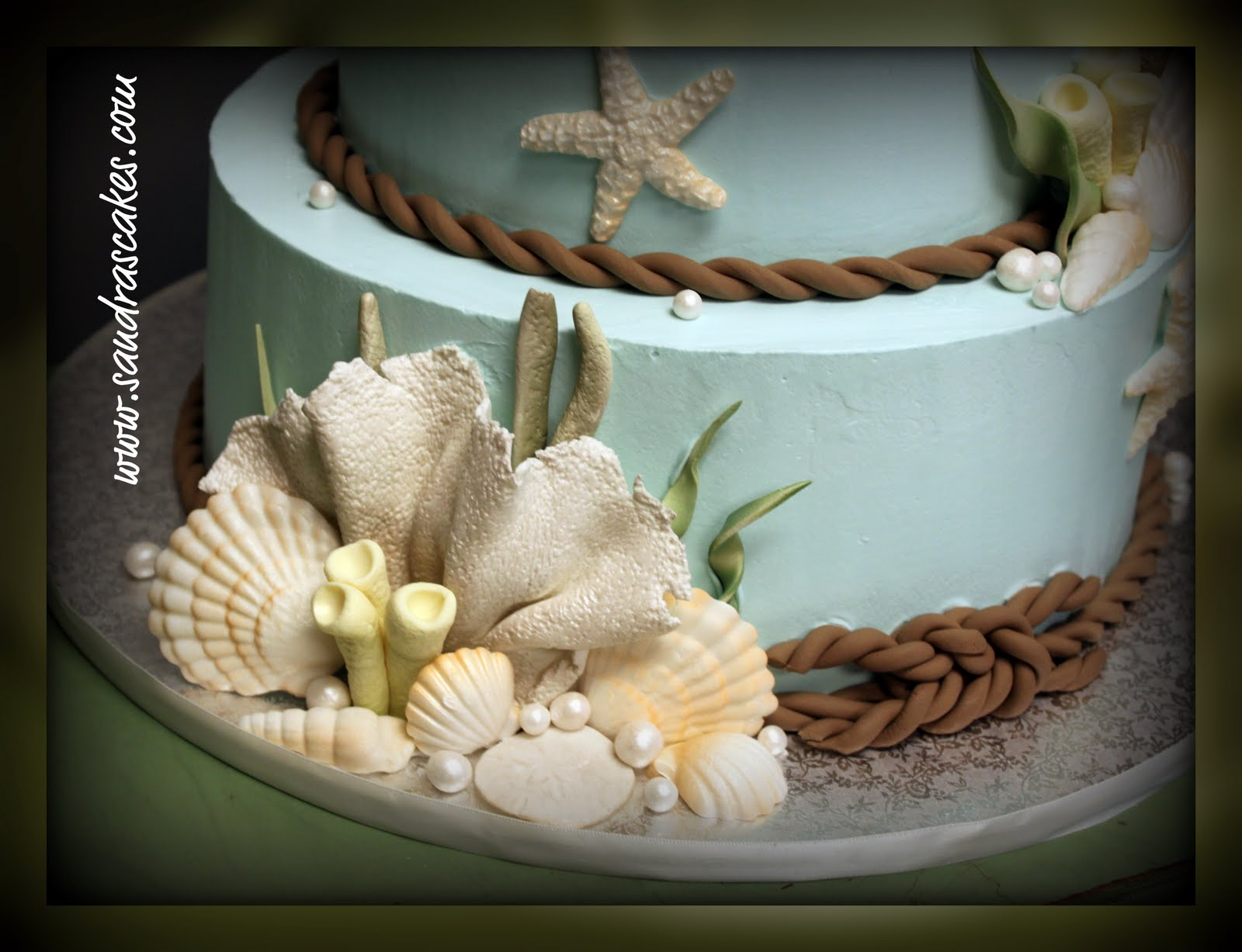 Beach Theme Wedding Cakes Beach Theme Wedding Cakes