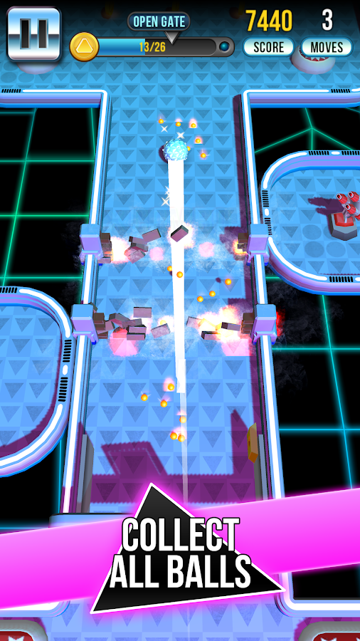 Retro Shot Pinball Puzzle Game Screenshot 1
