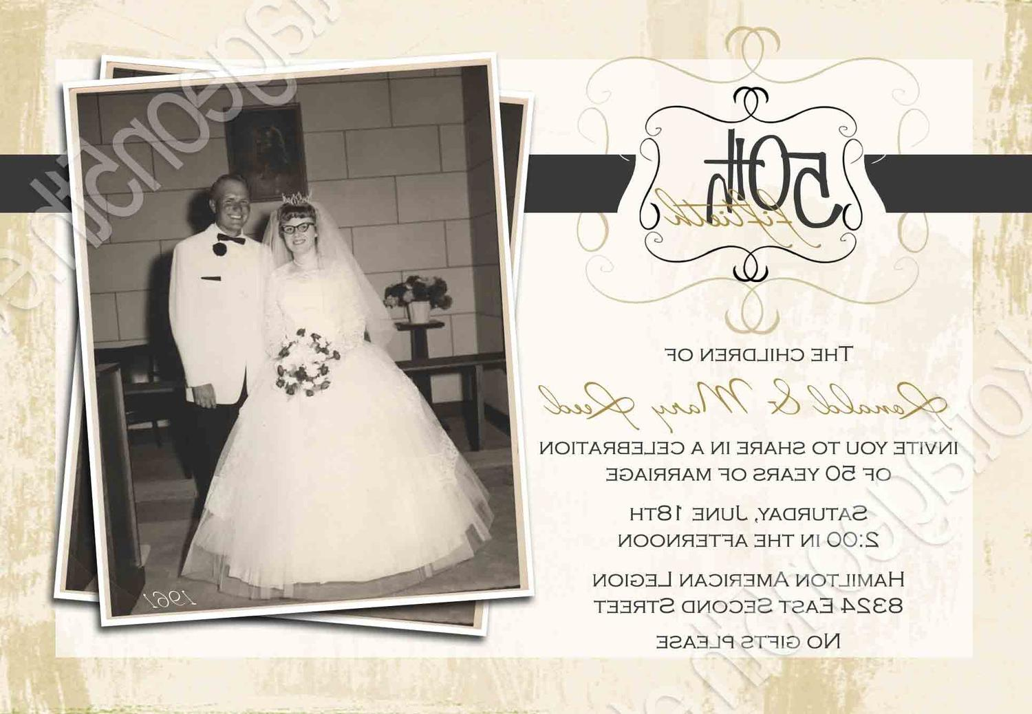 Remember When 1 or 2 Photo - Wedding Anniversary Party Invitation - ANY YEAR