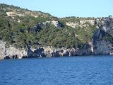 De kust van Zakynthos.
