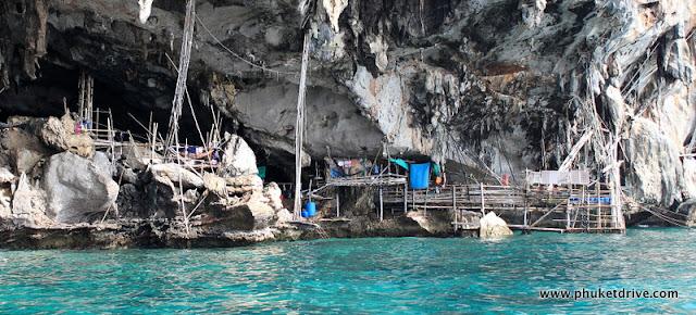 Phi Phi islands - Viking cave / Острова Пхи Пхи - Пещера Викингов