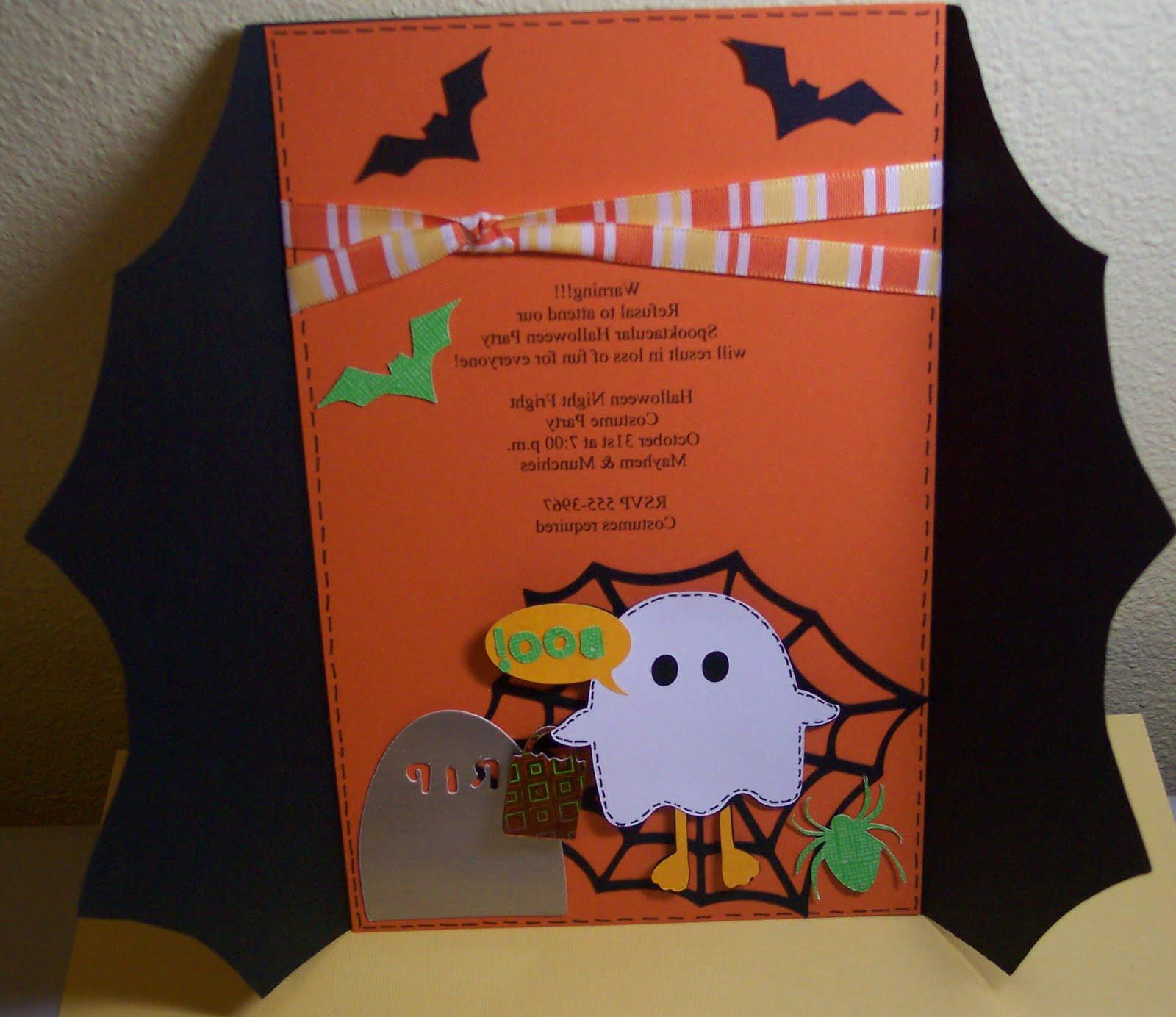 Halloween Invite with 3 Birds
