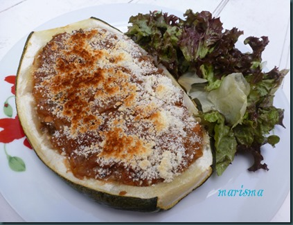 calabacines rellenos de pollo y verdura,racion2 copia