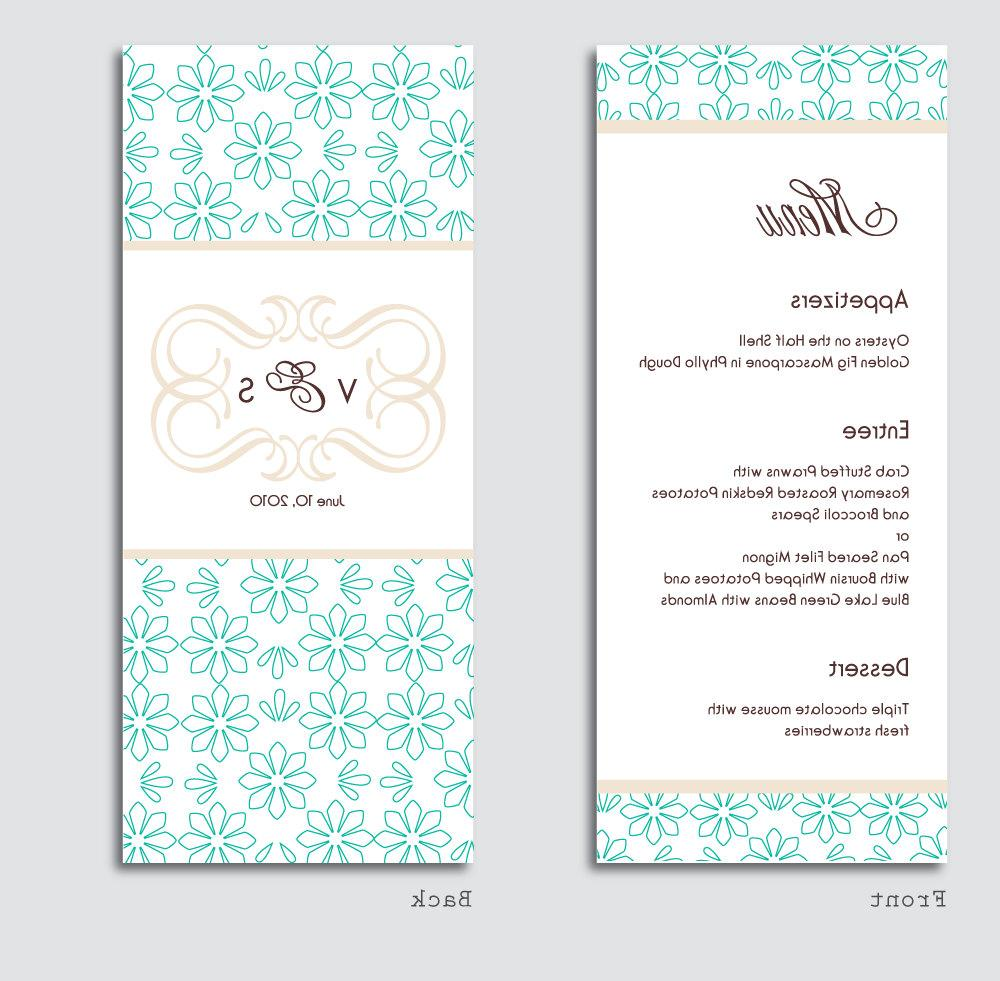 Addie Collection, Menu, Thank You Card, and Direction Card Reception Card