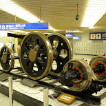 old train wheels in Osaka, Osaka, Japan