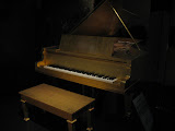 Elvis Presley's piano, a gift from Priscilla,in the Country Music Hall of Fame in Nashville TN 09042011