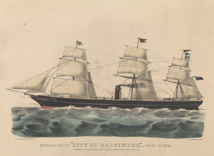 Litografia coloreada del CITY OF BALTIMORE. Currier & Ives. National Maritime Museum Greenwich.jpg