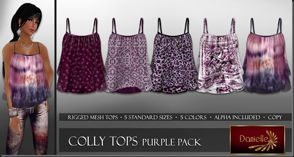DANIELLE Colly Tops Purple Pack'