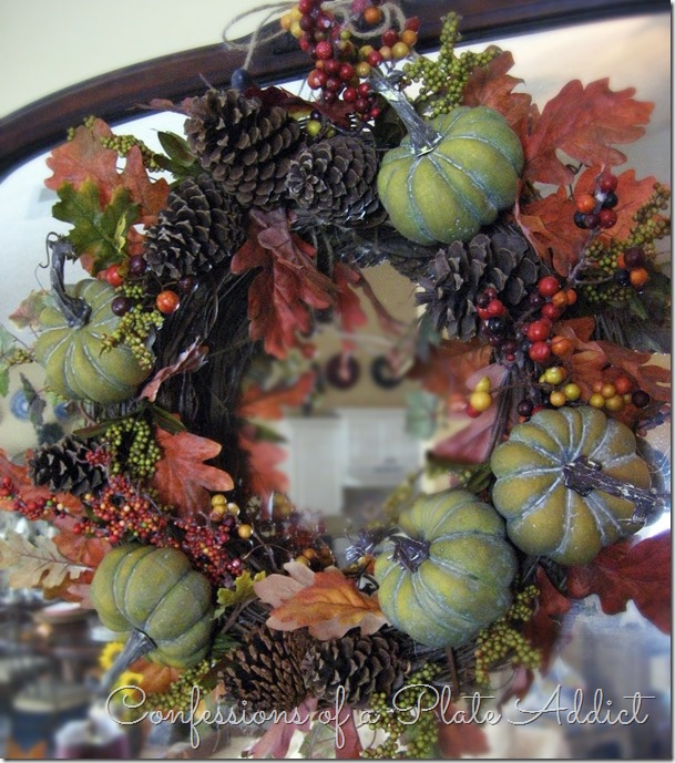 CONFESSIONS OF A PLATE ADDICT Pumpkins & Burlap Thanksgiving Mantel7=