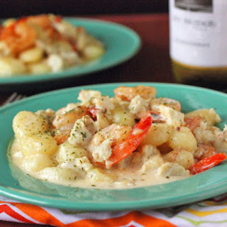 Seafood Gnocchi with White Wine Parmesan Sauce