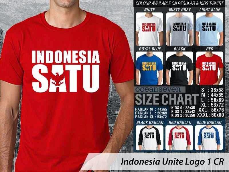KAOS Indonesia Unite Logo 1   KAOS Desain Indonesia Satu garuda distro ocean seven