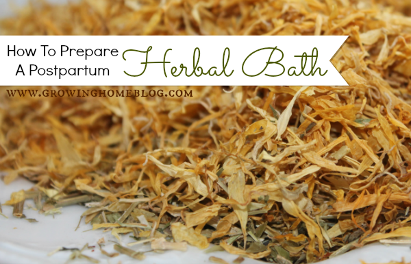 How To Prepare A Postpartum Herbal Bath