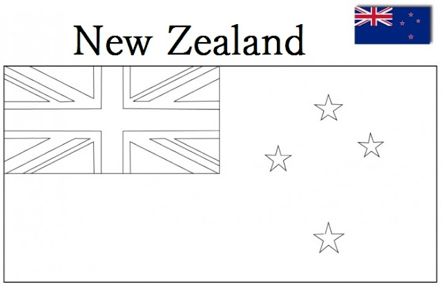 New Zealand Flag Coloring Pages