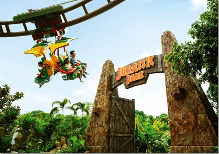 Universal Studios Singapore (USS) Resorts World Sentosa - Canopy flyer