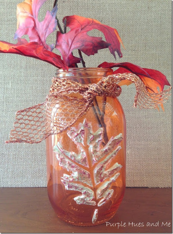 Autumn mason jar craft