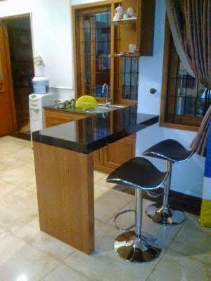Meja Bar Pesona Khayangan Depok Furniture Kitchen Set Minimalis