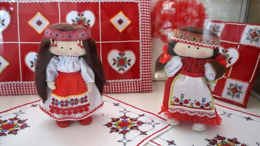 Куклы в чувашской одежде