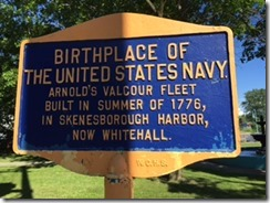 Whitehall Navy sign